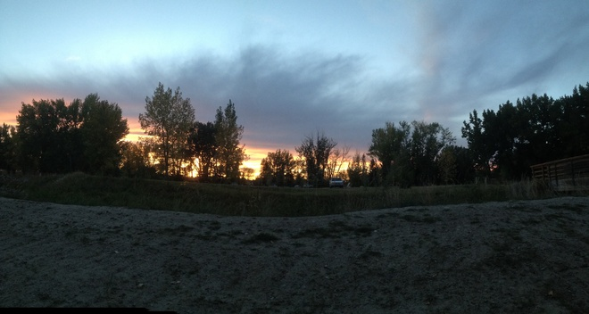 sunset camping Patricia, Alberta Canada