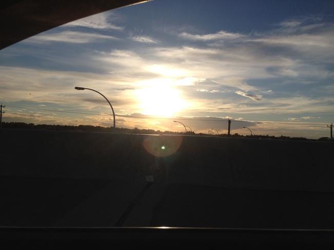 evening drive St. Albert, Alberta Canada