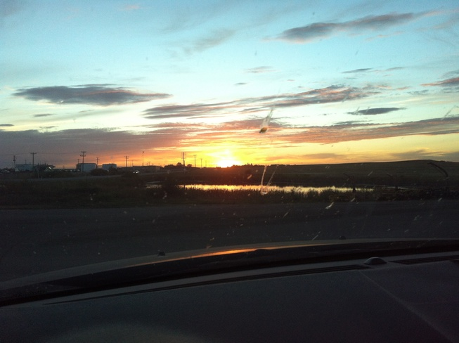 awesome sunset Wainwright, Alberta Canada