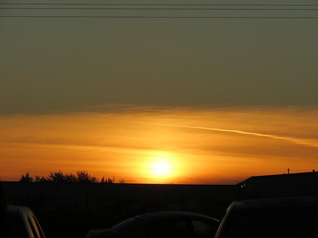 sun rise this morning 2c Sherwood Park, Alberta Canada