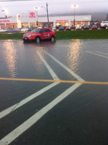parking lot flooded St. John's, Newfoundland and Labrador Canada