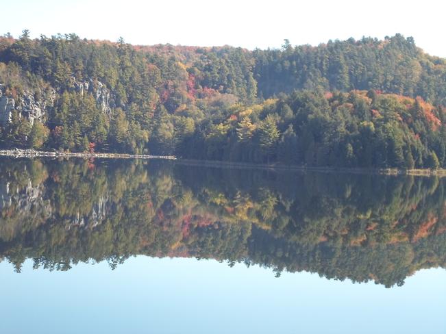 Reflections of Lake Horne stunning Elliot Lake, Ontario Canada