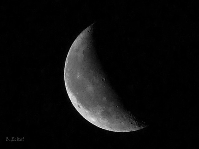 Early morning lunar view Exeter, Ontario Canada