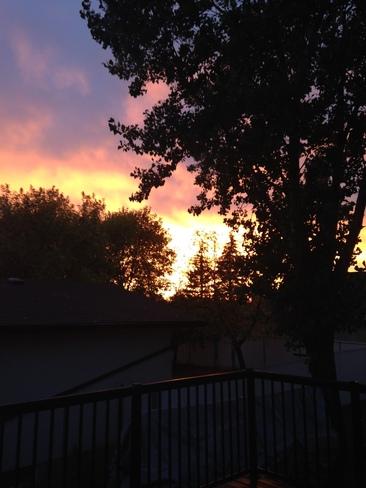 Sunset in Winnipeg Winnipeg, Manitoba Canada