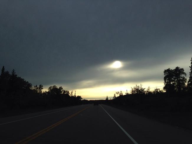afternoon haze Falcon Lake, Manitoba Canada