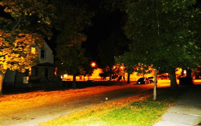 Westend at Night Winnipeg, Manitoba Canada