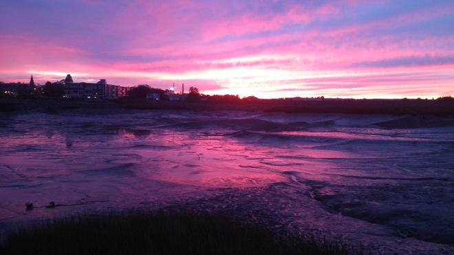 Super Sunset in Wolfville Harbour Wolfville, Nova Scotia Canada