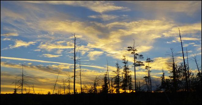 Sunset along 108, Elliot Lake. Elliot Lake, Ontario Canada