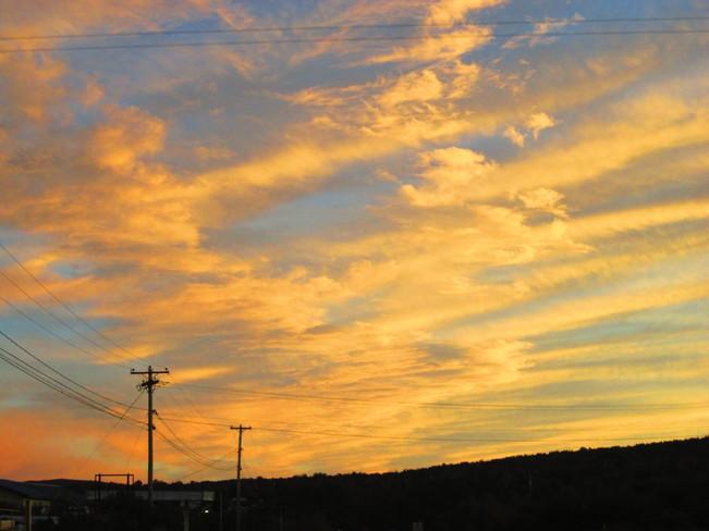 colourful sky Nackawic, New Brunswick Canada