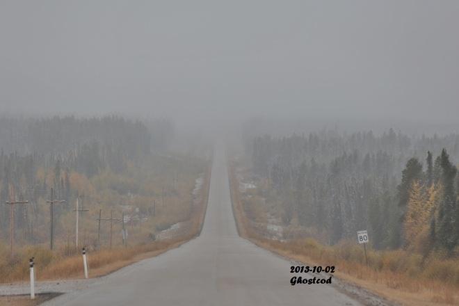 0.8°C and mix rain and snow Swan Hills, Alberta Canada