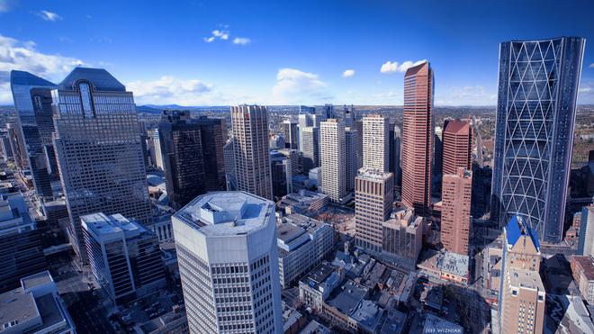 Downtown Panorama Calgary, Alberta Canada