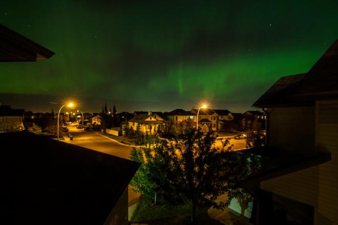 Glimpse of Northern Lights Calgary, Alberta Canada