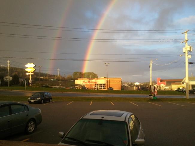 Double rainbow Saint John, New Brunswick Canada