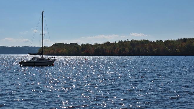 BOAT IN WHELPLEY COVE Grand Bay-Westfield, New Brunswick Canada