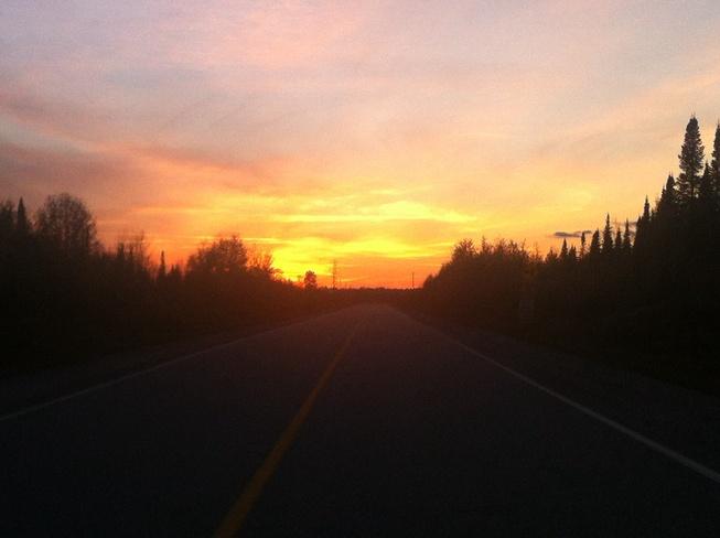 october sunset Smooth Rock Falls, Ontario Canada