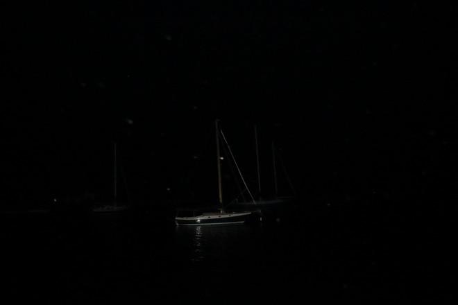 Sailboat At Night Chester, Nova Scotia Canada