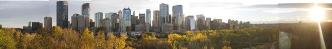 Calgary from E. Crescent Hill Calgary, Alberta Canada