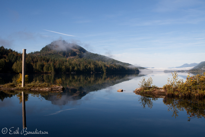 Bald Mountain Mists Lake Cowichan, British Columbia Canada
