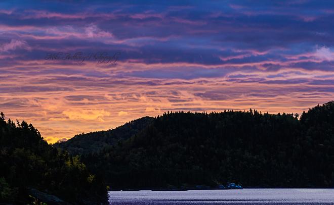 Sunrise over Robert's Arm Harbour Robert's Arm, Newfoundland and Labrador Canada