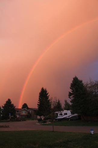 Beautiful Sunset and Rainbow! Abbotsford, British Columbia Canada