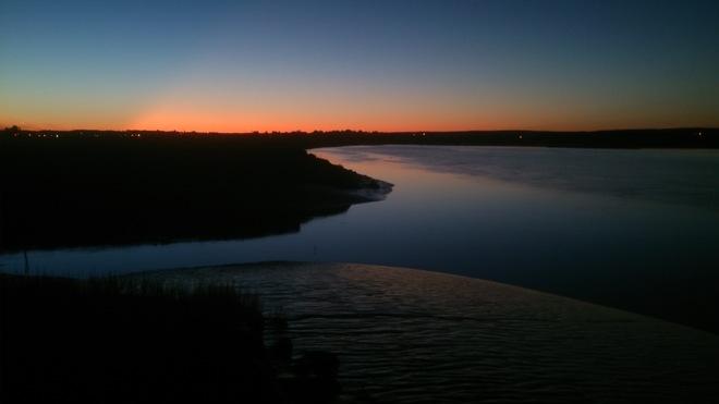 Fall Sunset on the Cornwallis River Wolfville, Nova Scotia Canada