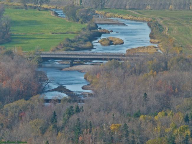 Vue sur la rivière-ouelle Saint-Pacôme, Quebec Canada