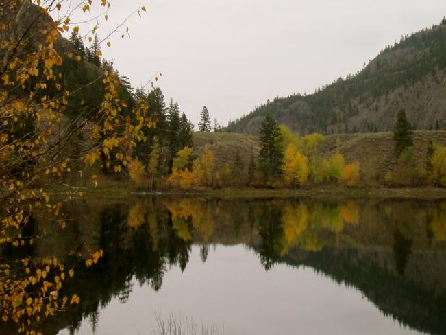 REFLECTION AT TWIN LAKES Penticton, British Columbia Canada