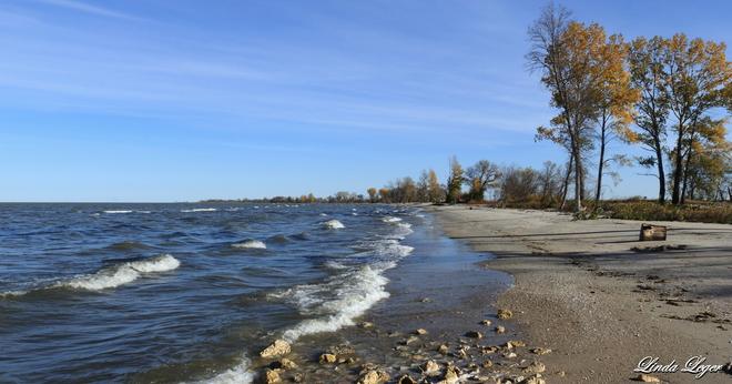 A Stretch Of Beach St. Ambroise, Manitoba Canada