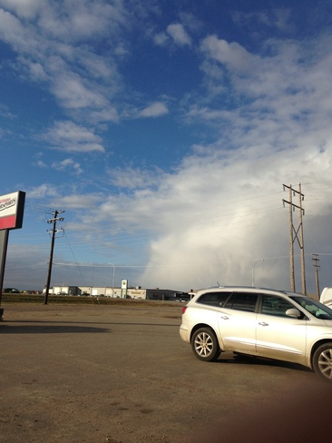 cloud front Yorkton, Saskatchewan Canada