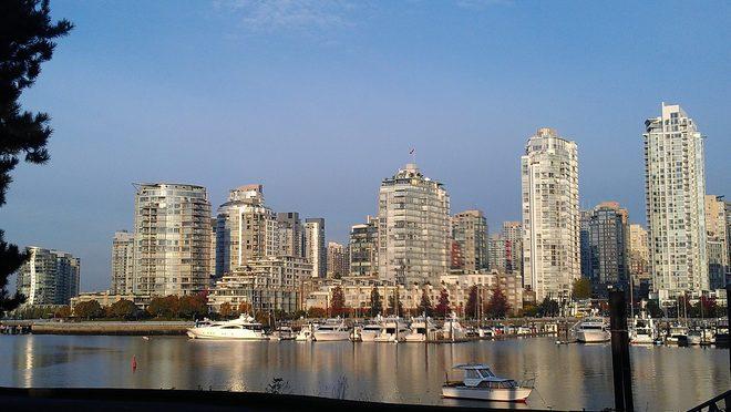 Sunny day Vancouver, British Columbia Canada