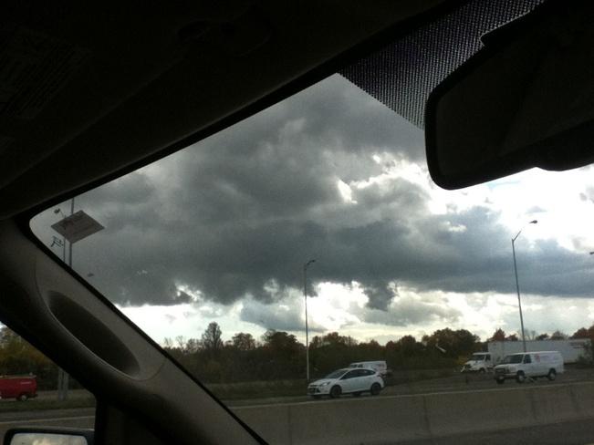 Dark clouds of Lake Ontario Toronto, Ontario Canada