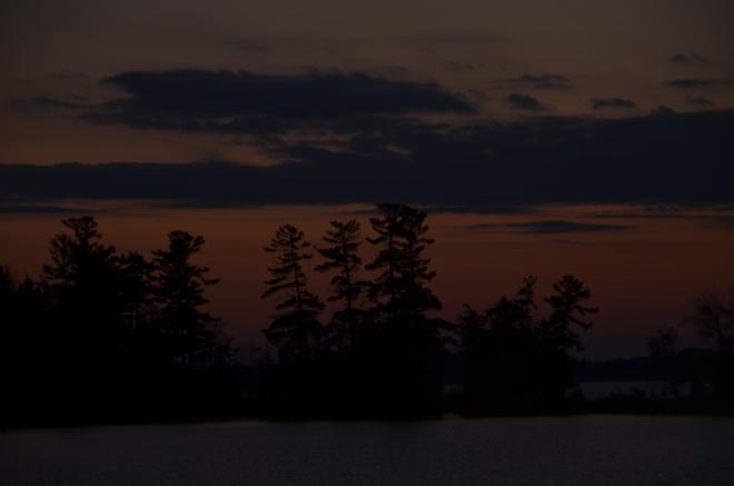 Sunset over Cameron Lake Fenelon Falls, Ontario Canada
