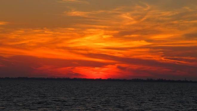 sun set Kapuskasing, Ontario Canada