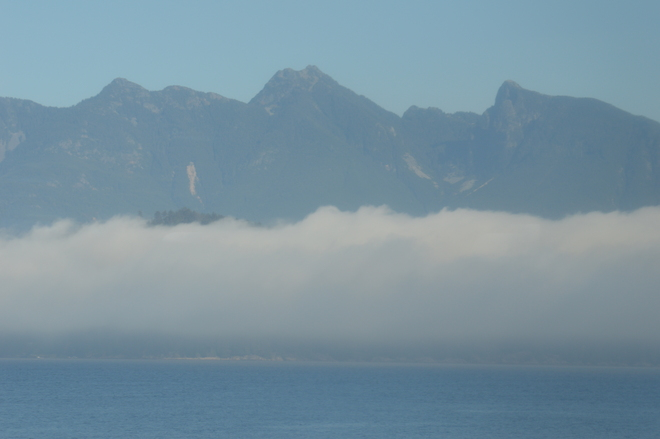 Mist Above The Sea Sunshine Coast, British Columbia Canada