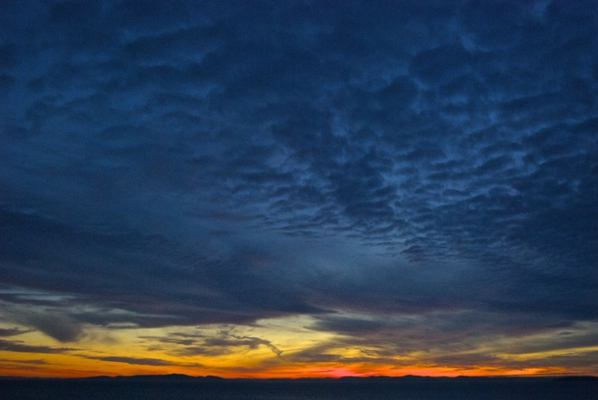Late sunset. White Rock Beach.