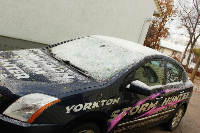 1st Snowfall of the Season Yorkton, Saskatchewan Canada