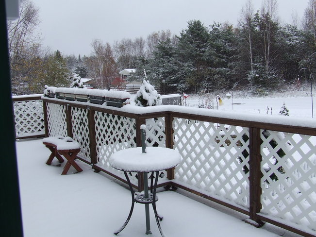 snow snow and more snow Ignace, Ontario Canada
