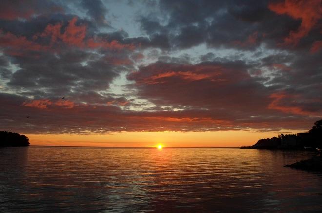 Sunrise at Lake St. Clair Windsor, Ontario Canada