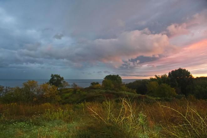 Weather over lake Ontario Toronto, Ontario Canada