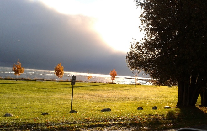 Storm Brewing over Georgian Bay Thornbury, Ontario Canada