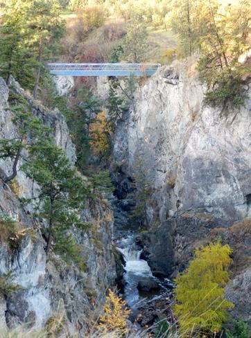 KVR Bridge over Trout Creek Falls Summerland, British Columbia Canada