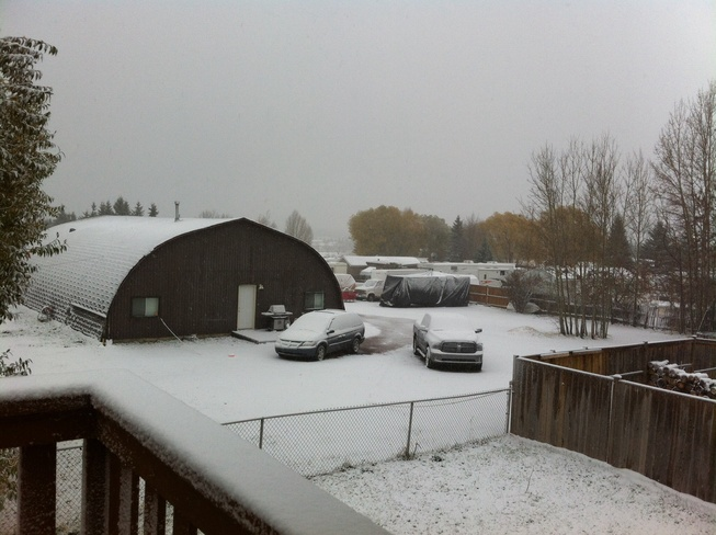 Winter, day one Sylvan Lake, Alberta Canada