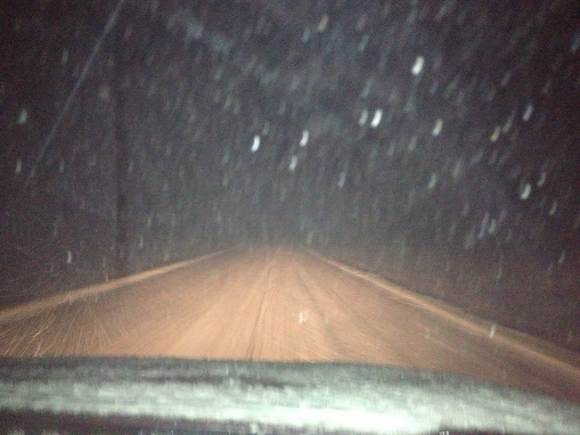 Blowing Snow Bow Island, Alberta Canada