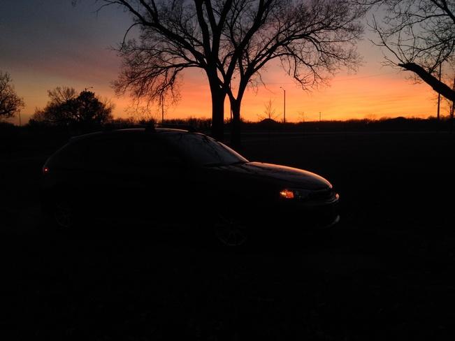 Sunset over Headingley Winnipeg, Manitoba Canada
