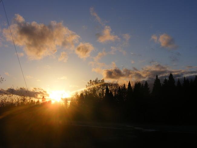 Sunset Birchy Bay, Newfoundland and Labrador Canada