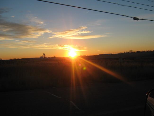early morning sunrise Moose Jaw, Saskatchewan Canada