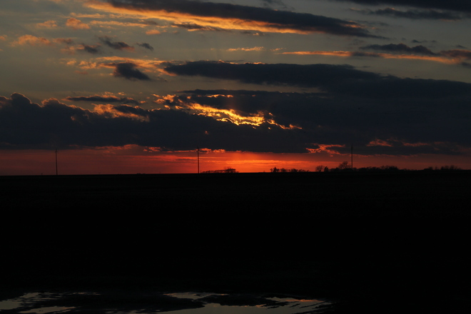 Sunset St. Jean Baptiste, Manitoba Canada