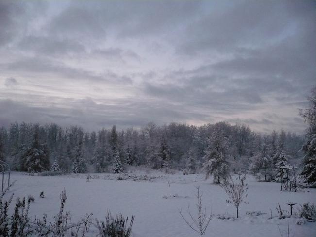 After 17cm of snow Kapuskasing, Ontario Canada