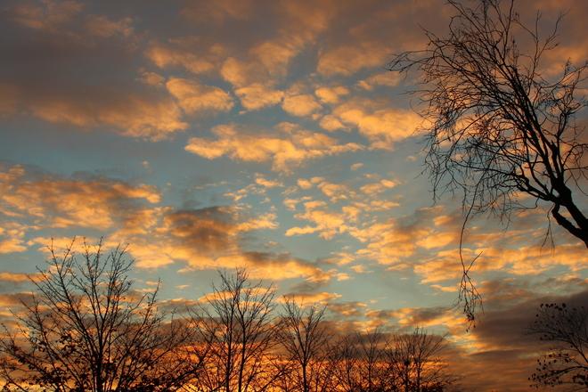 Orange Clouds Richmond, British Columbia Canada