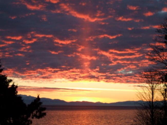 Beautiful Sunset Sechelt, British Columbia Canada
